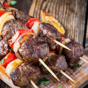 beef & chicken kebabs