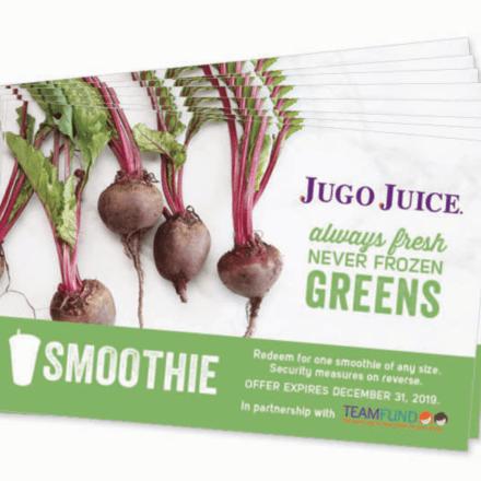 Jugo Juice voucher booklet