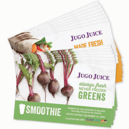 Jugo Juice meal and smoothie vouchers